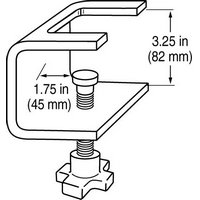 Dwg_Bench_Clamp, Single Arm Bench Clamp, acc