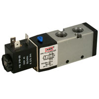 4-Way Air Solenoid & Pilot Valves