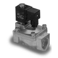 2-Way, Brass Solenoid/Pilot Acting